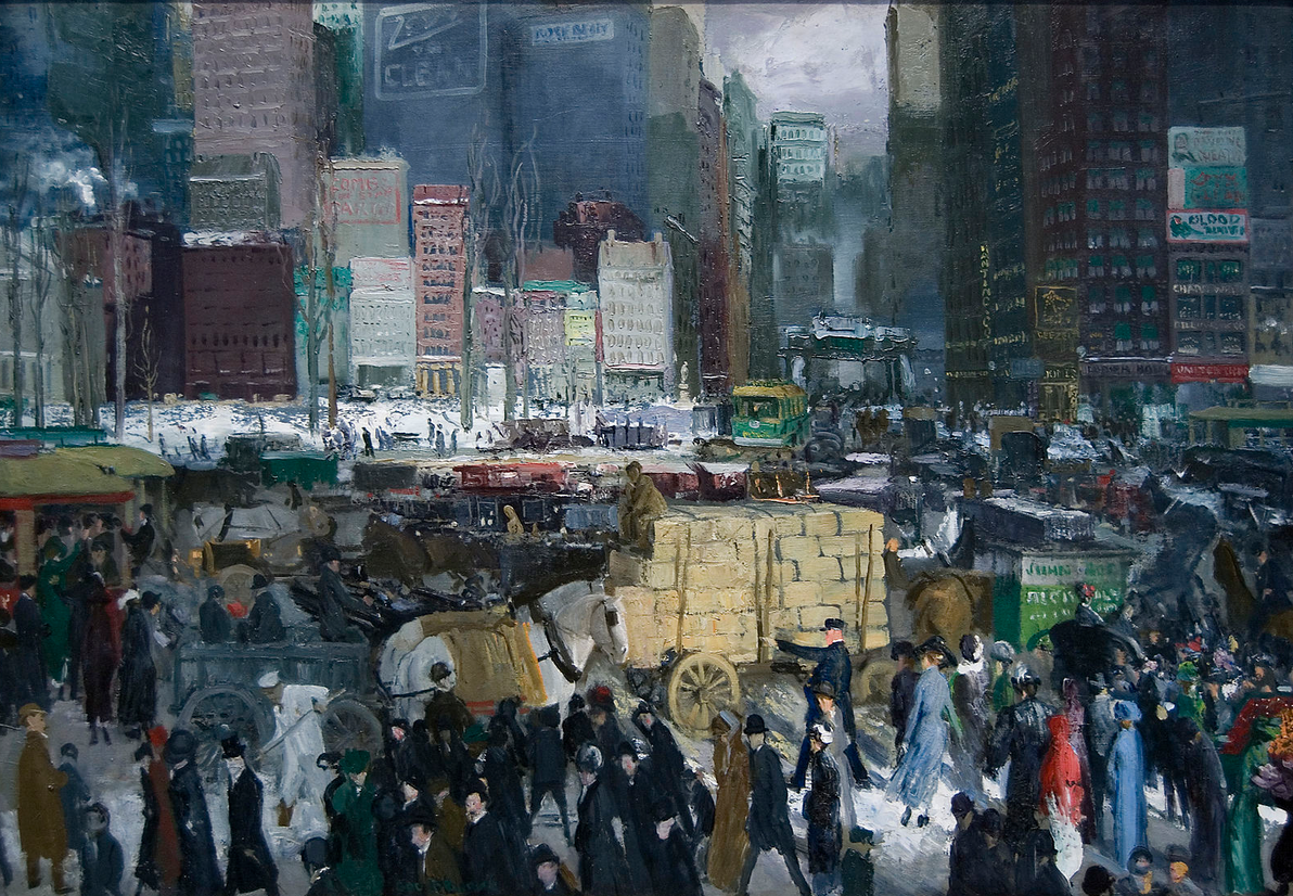New York - A painting by George Bellows