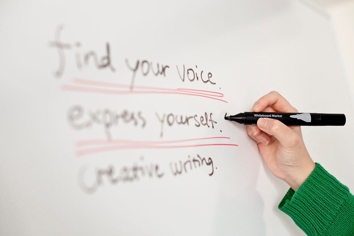Find your voice, express yourself. Creative Writing pic