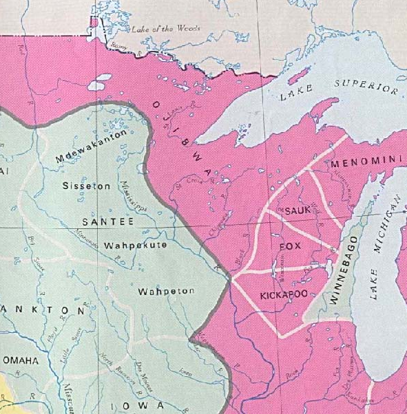Early Indian Tribes, Culture Areas, and Linguistic Stocks - Eastern U.S. (From The National Atlas of the United States of America (Arch C. Gerlach, editor). Washington, D.C.: U.S. Dept. of the Interior, Geological Survey, 1970) Provided by University of Texas Libraries